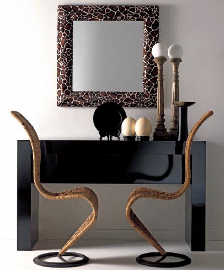 etno chic cornici chairs console