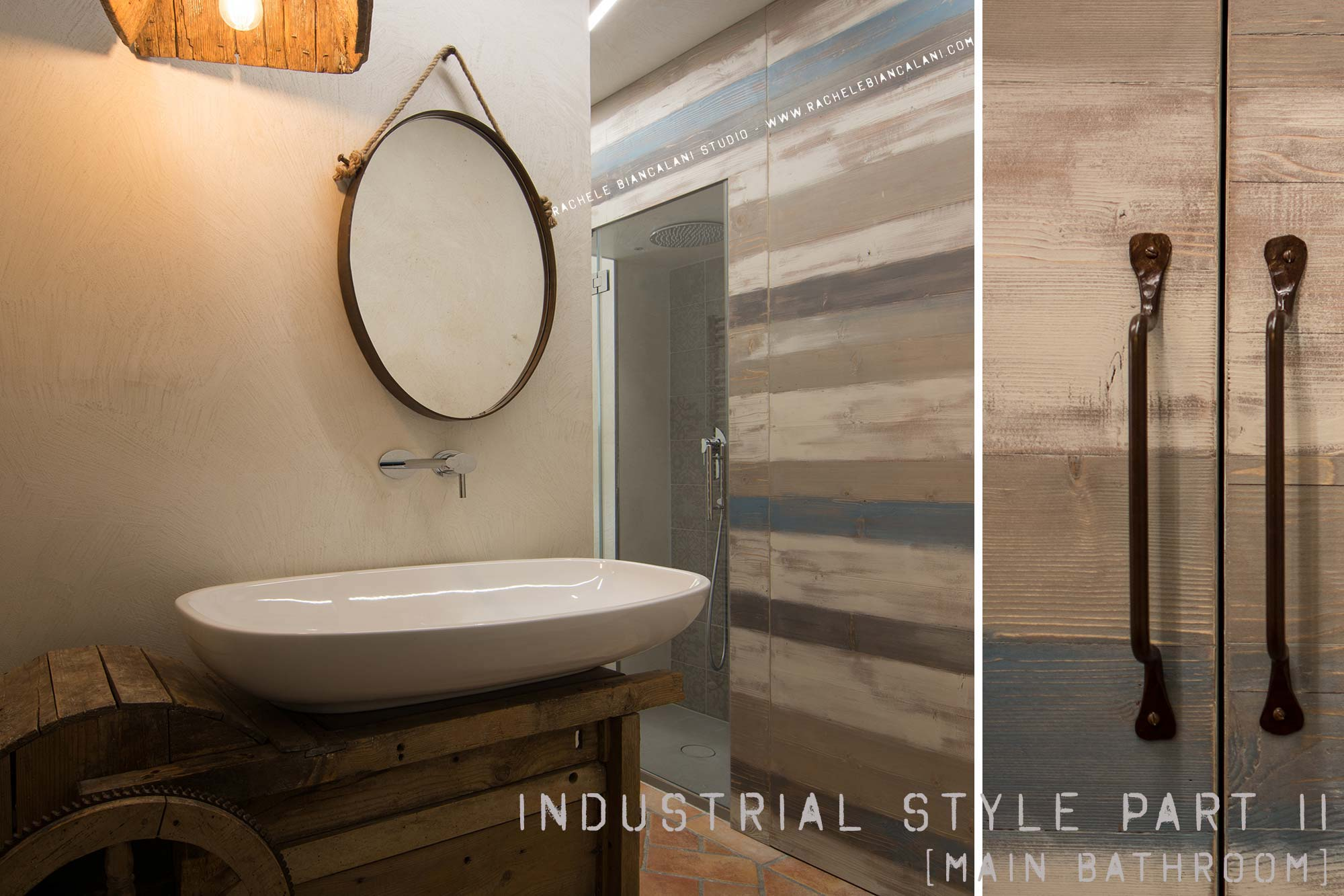 Vintage industrial style a brand new stunning bathroom - Bagno stile industriale ...